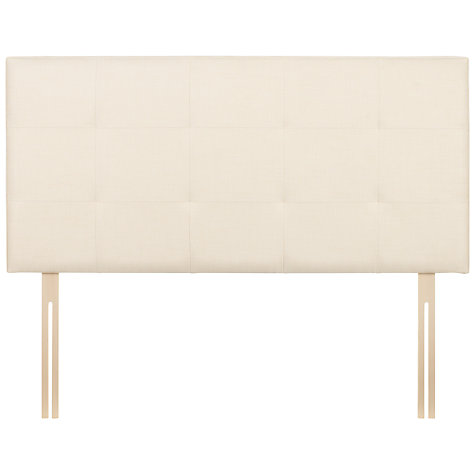Buy John Lewis Farnham Headboard, Cream, Double Online at johnlewis.com