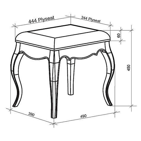 Buy John Lewis Sophia Dressing Table Stool, Ivory Online at johnlewis.com
