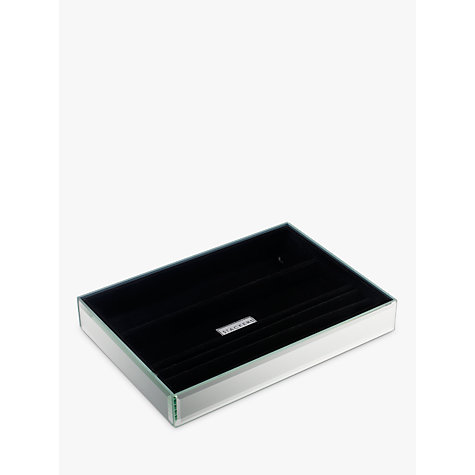 Buy stackers glass jewellery tray 4 section john lewis for Stackers jewelry box canada