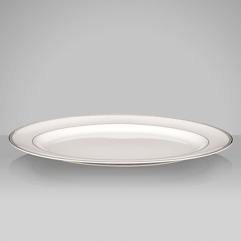 Buy Vera Wang for Wedgwood Grosgrain Oval Dish, 39cm Online at johnlewis.com