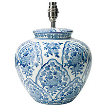 Buy John Lewis Blue Flower Lamp Base, Pot Shaped Online at johnlewis.com
