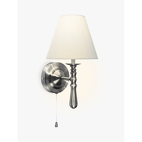 Buy John Lewis Sloane Wall Light, Satin Nickel Online at johnlewis.com