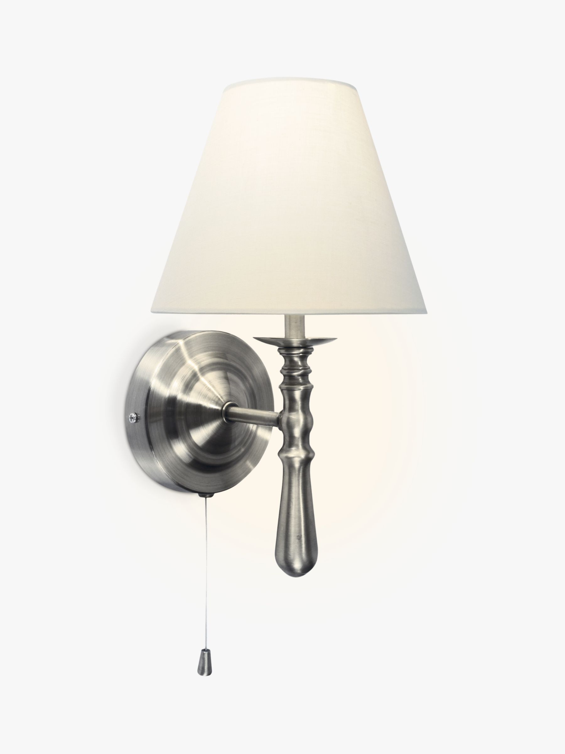 Wall Mounted Lamps John Lewis : Buy John Lewis Sloane Wall Light, Satin Nickel John Lewis