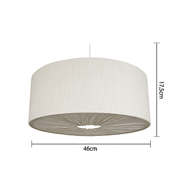 John Lewis Easy-to-fit Libby Ceiling Shade, Natural