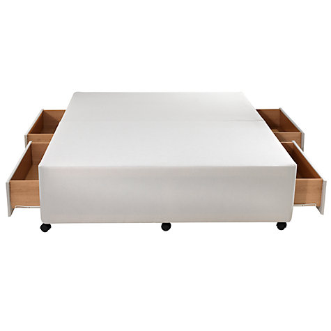 Buy John Lewis Non Sprung Divan Base, White, Double Online at johnlewis.com