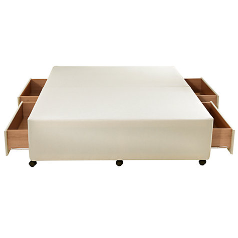 Buy John Lewis Non Sprung Divan Base, White, Kingsize Online at johnlewis.com