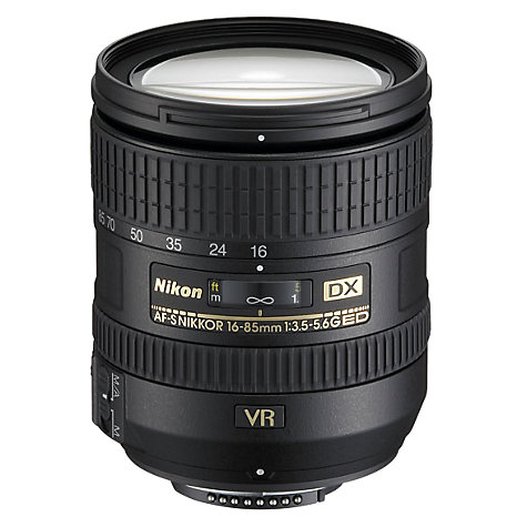 Buy Nikon DX 16-85mm f/3.5-5.6G ED VR Standard Zoom Lens Online at johnlewis.com