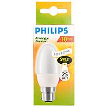 Buy Philips Energy Saver BC Candle Bulb, 5W Online at johnlewis.com
