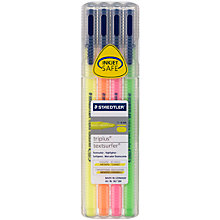 Buy Staedtler Triplus Highlighter Pens, Pack of 4 Online at johnlewis.com