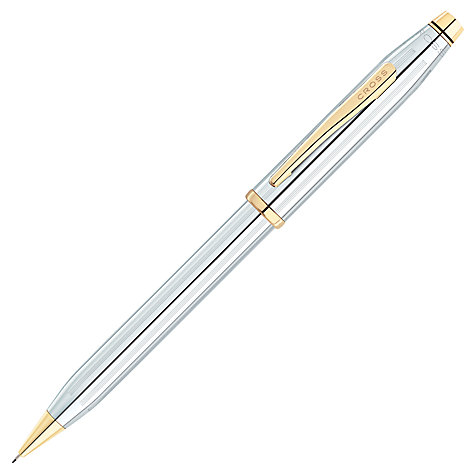 Buy Cross Century Medalist Pencil, Chrome/Gold Online at johnlewis.com