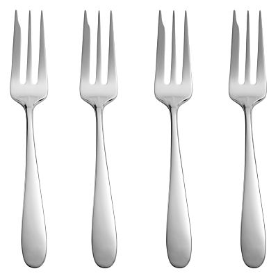 John Lewis Outline Cake Forks, Stainless Steel, Set of 4