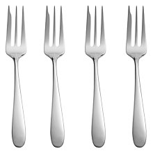 Buy John Lewis Outline Cake Forks, Stainless Steel, Set of 4 Online at johnlewis.com