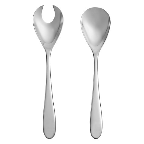 Buy John Lewis Outline Salad Servers, Stainless Steel Online at johnlewis.com