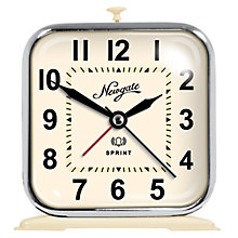 Buy Newgate Sprint Alarm Clock, Cream Online at johnlewis.com