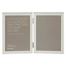 "Buy John Lewis Shiny Silver Vertical Double Frame, 5 x 7"" (13 x 18cm) Online at johnlewis.com"