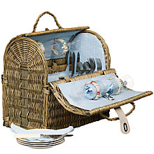 Buy John Lewis Grey Willow Picnic Hamper, 4 Persons Online at johnlewis.com