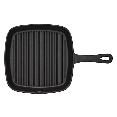 Buy John Lewis Speciality Cast Iron Grill Pan, 24cm Online at johnlewis.com