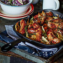 Buy Sticky Cider Sausages with Cabbage & Apple Slaw Online at johnlewis.com