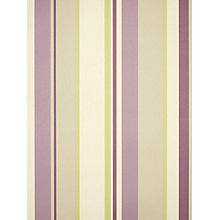 Buy John Lewis Wallpaper, Multi Stripe, Fennel / Cassis Online at johnlewis.com