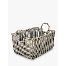 Buy John Lewis Wicker Medium Basket, Grey Online at johnlewis.com
