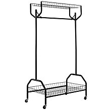Buy John Lewis Clothes Rail, Black Online at johnlewis.com