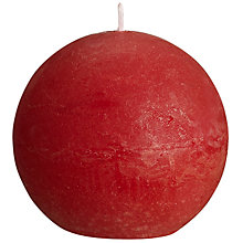 Buy John Lewis Rustic Ball Candle, Red Small Online at johnlewis.com