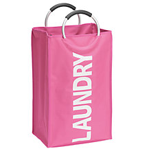 Buy Wenko Laundry Collector, Lipstick Pink Online at johnlewis.com