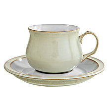 Buy Denby Linen Tea / Coffee Cup & Saucer, Natural Online at johnlewis.com