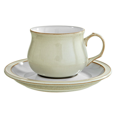 Buy Denby Linen Teacup, 0.2L, Cream Online at johnlewis.com