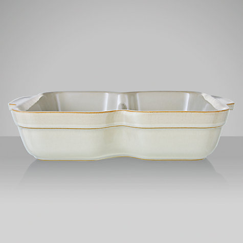 Buy Denby Linen Divided Dish Online at johnlewis.com