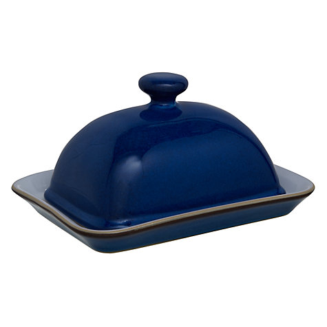 Buy Denby Imperial Blue Butter Dish Online at johnlewis.com