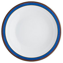 Buy Denby Imperial Blue Shallow Rimmed Bowl, Dia.21cm Online at johnlewis.com