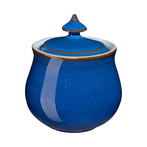 Buy Denby Imperial Blue Covered Sugar Bowl Online at johnlewis.com