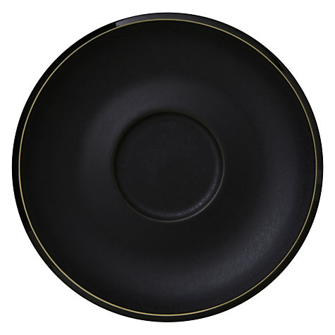 Buy Denby Jet Tea Saucer, Black Online at johnlewis.com