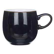 Buy Denby Jet Mug, Black, Small Online at johnlewis.com