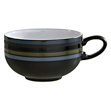 Buy Denby Jet Stripes Tea / Coffee Cup, Black Online at johnlewis.com