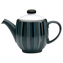 Buy Denby Jet Stripes Teapot, Large, Black Online at johnlewis.com