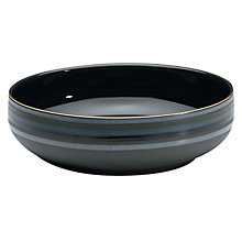 Buy Denby Jet Stripes Serving Bowl, Black Online at johnlewis.com