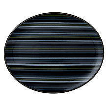 Buy Denby Jet Stripes Oval Platter, Black Online at johnlewis.com