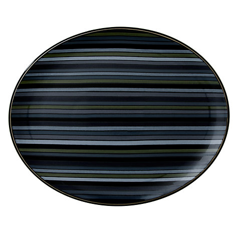 Buy Denby Jet Oval Platter Online at johnlewis.com