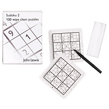 Buy John Lewis Wipe Off Sudoku Online at johnlewis.com