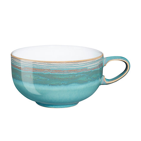 Buy Denby Azure Coast Tea/Coffee Cup, Dia.12.5cm, Stone Online at johnlewis.com