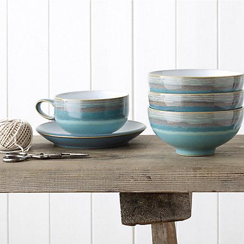 Buy Denby Azure Coast Tea Coffee Cup Blue 250ml John Lewis