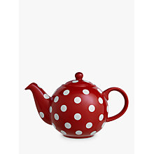 Buy London Pottery Company Red and White Spot Teapot, 6 Cup Online at johnlewis.com