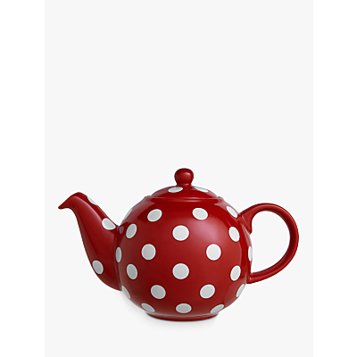 London Pottery Red and White Spot Teapot