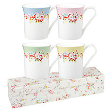 Buy Cath Kidston Floral Mug, Set of 4 Online at johnlewis.com