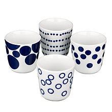 Buy John Lewis Indigo Spots Egg Cups, Box of 4 Online at johnlewis.com