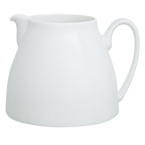 Buy Denby White Bone China Jug, Small, 0.4L Online at johnlewis.com
