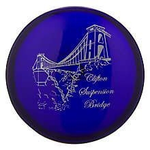 Buy Bristol Blue Glass Limited Edition Clifton Suspension Bridge Paperweight Online at johnlewis.com