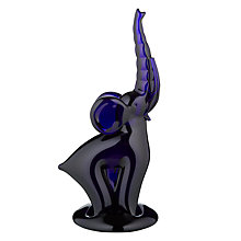 Buy Bristol Blue Glass Elephant Sculpture Online at johnlewis.com